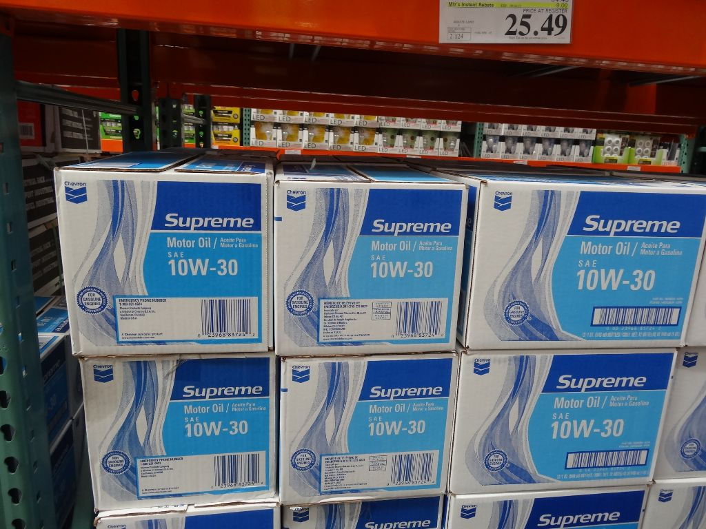 Chevron Supreme Motor Oil Costco