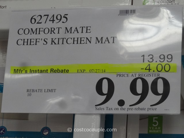 Ordinaire Comfort Mate Chefs Kitchen Mat Costco