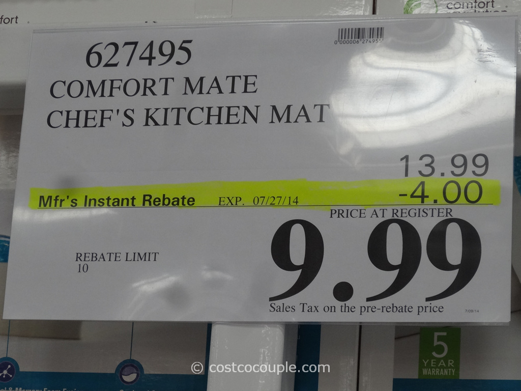 Comfort Mate Chefs Kitchen Mat Costco