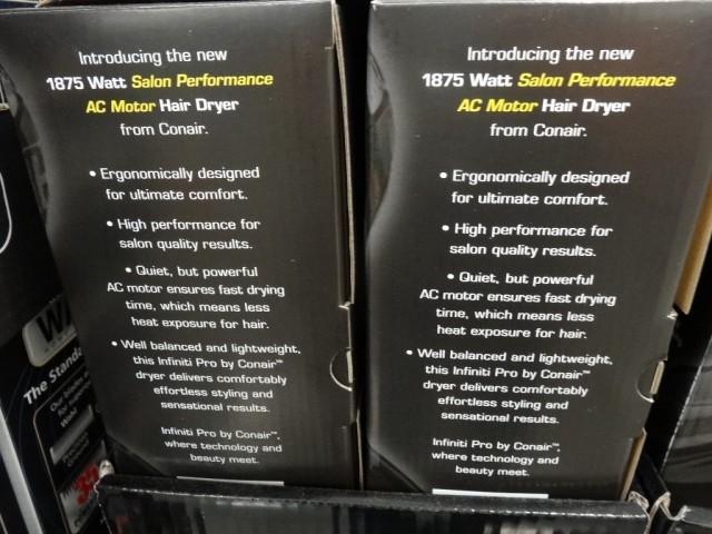 Conair Infiniti Pro Hair Dryer Costco