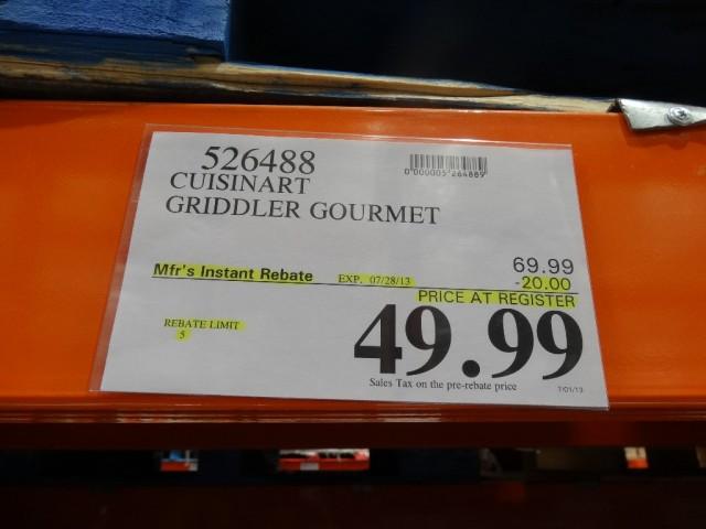 Cuisinart Griddler Gourmet Costco