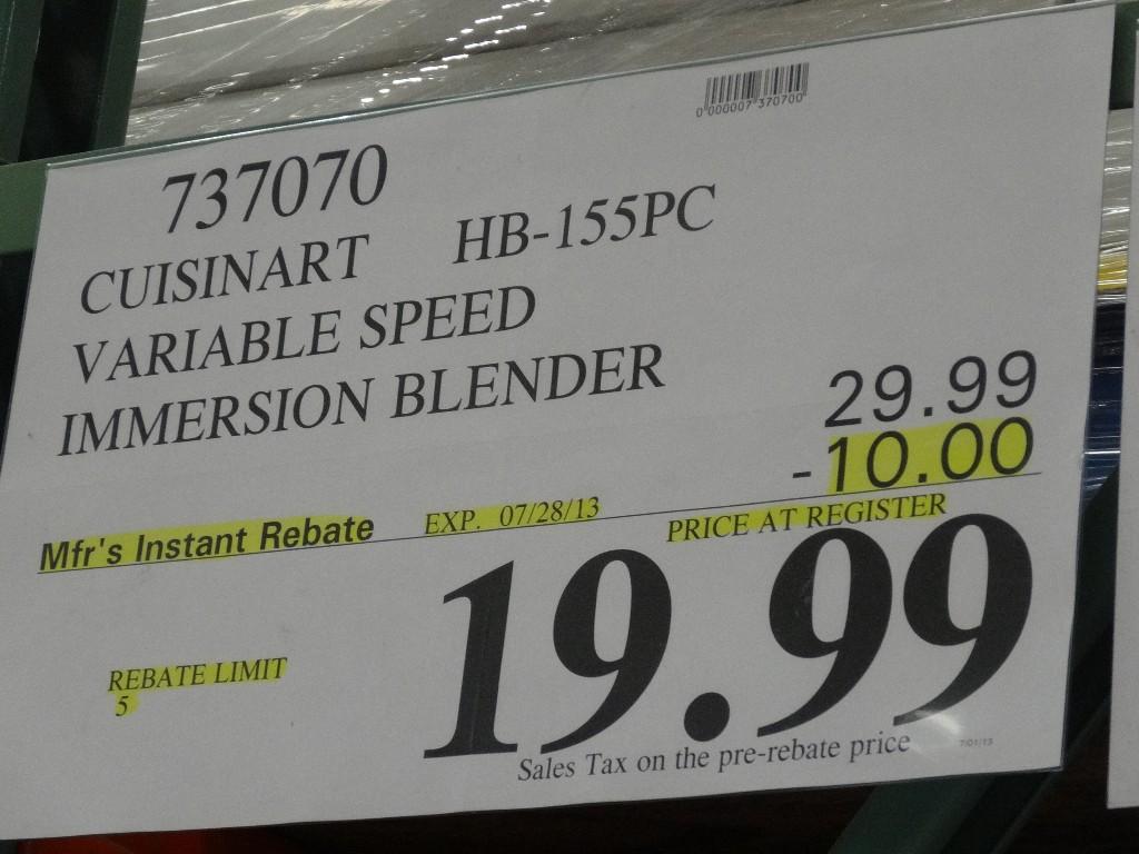 Cuisinart Variable Speed Hand Blender