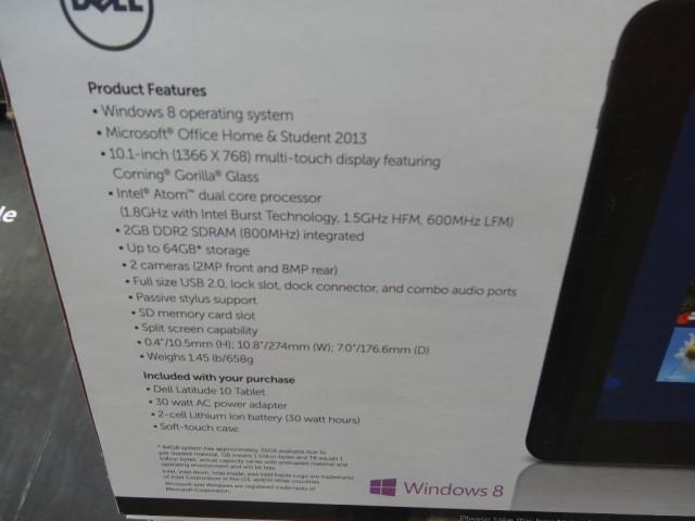 Dell Latitude 10 Inch Tablet Costco