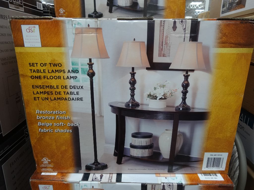 design solutions international 3 pack lamps. Black Bedroom Furniture Sets. Home Design Ideas