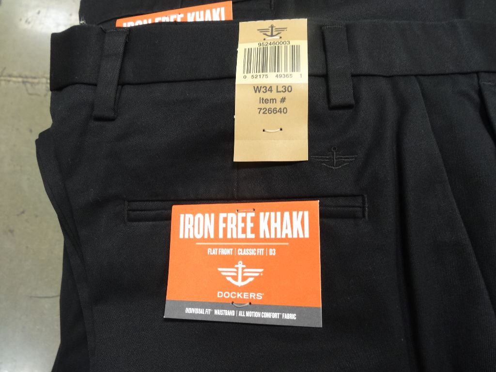 Dockers Iron Free Khaki Pant Costco