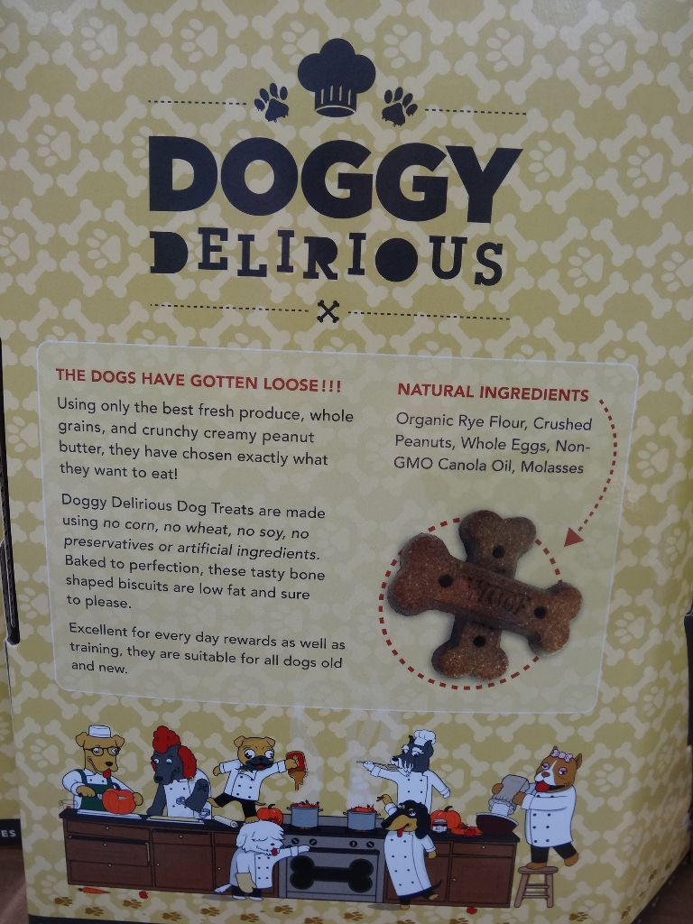 Doggy Delirious Peanut Butter Bones Costco