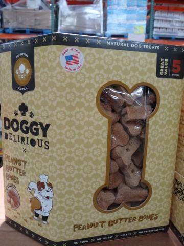 Doggy Delirious Peanut Butter Bones Costco