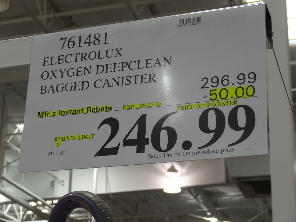 Electrolux Oxygen Bagged Canister Vacuum