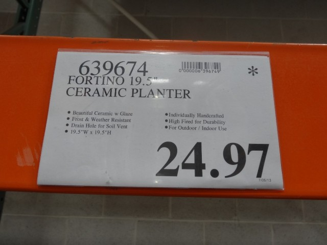 Fortino Ceramic Planter Costco