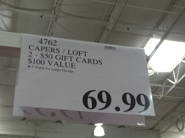 Gift Card Capers Loft Costco