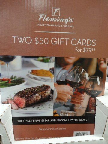 Gift Card Flemings Steakhouse Costco
