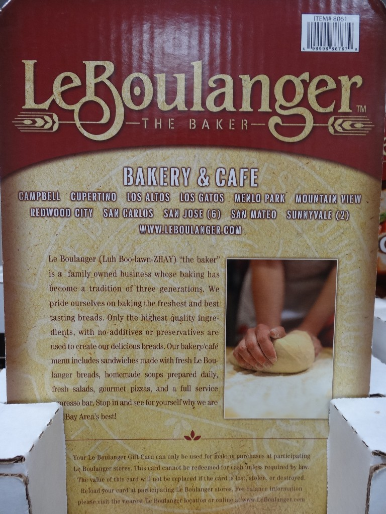 Gift Card LeBoulanger Costco