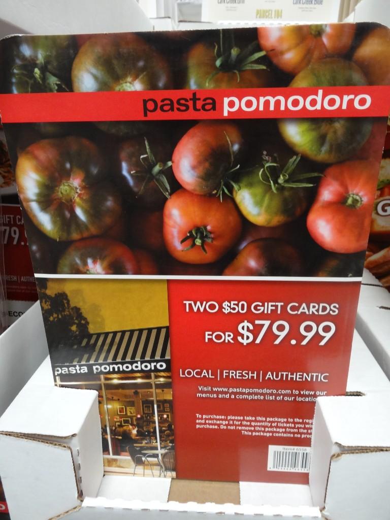 Gift Card Pasta Pomodoro Costco