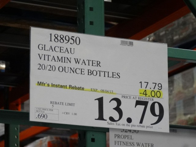 Glaceau Vitamin Water Costco