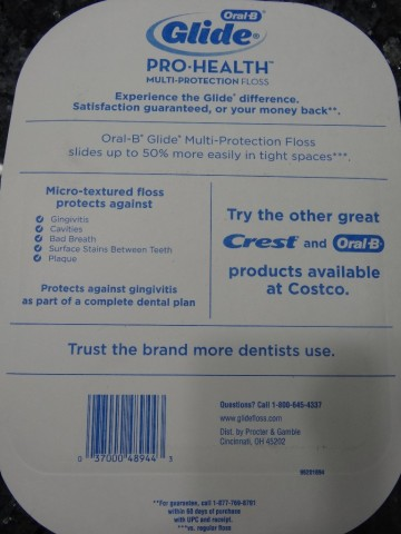 Glide Pro-Health Floss Costco