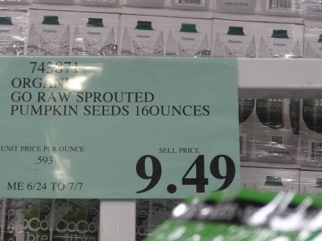 Go Raw Organic Sprouted Pumpkin Seeds Costco