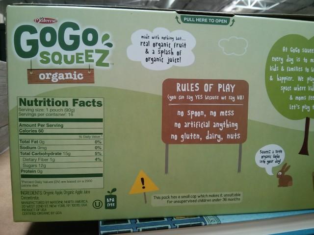 GoGo Squeez Applesauce Costco