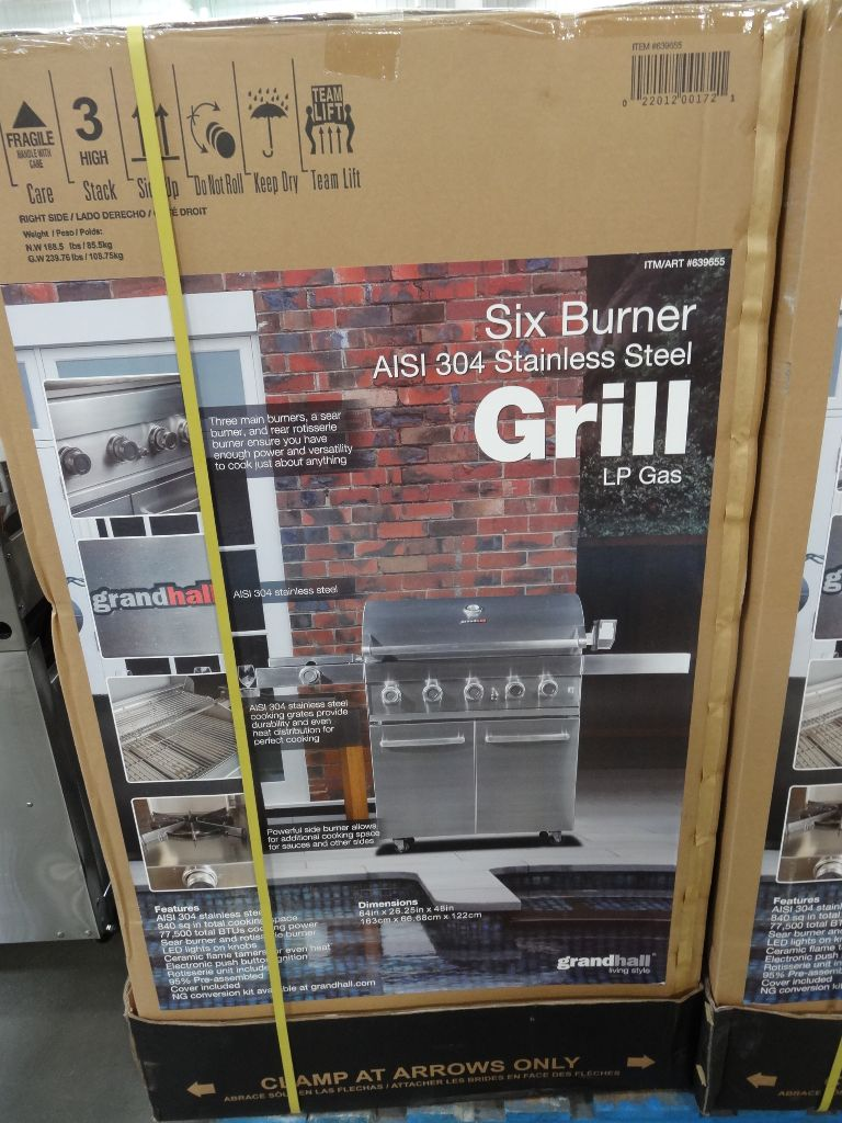 Grand Hall 6 Burner 304 Stainless Steel Gas Grill