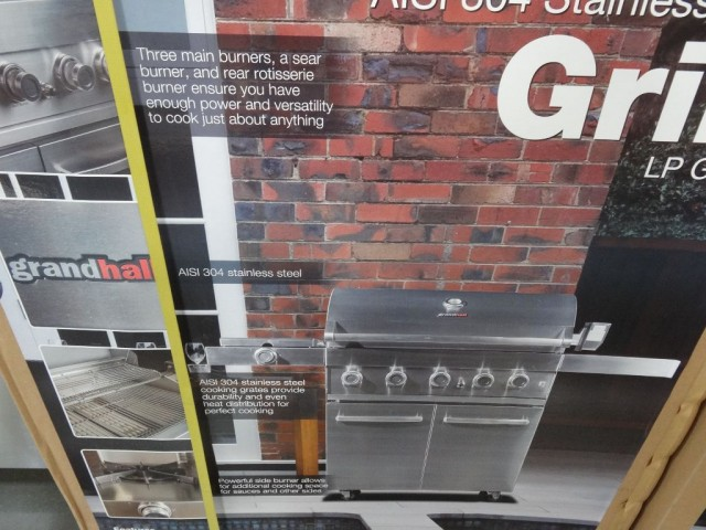 Grand Hall 304 Stainless Steel Gas Grill Costco