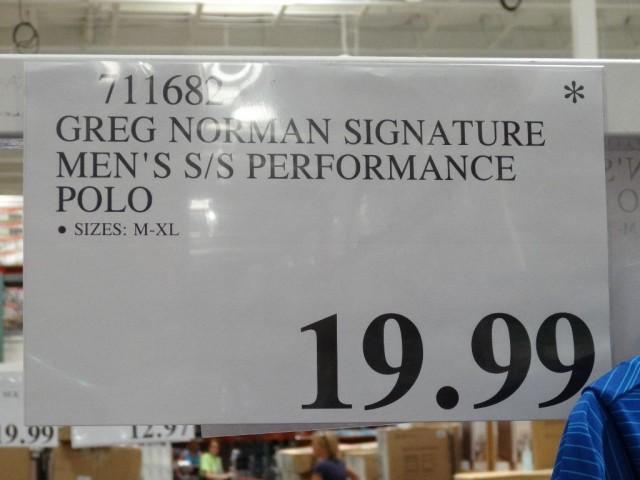 Greg Norman Performance Polo Costco