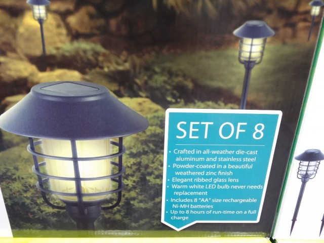 HGTV Solar Pathway Lights Discount Costco
