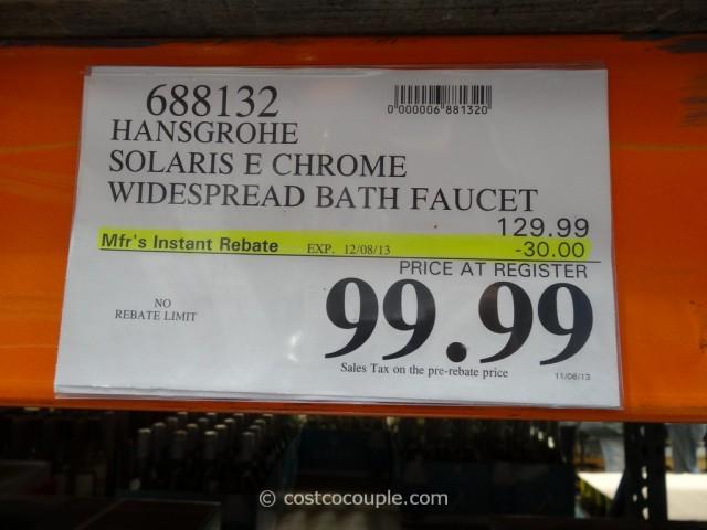 Hansgrohe Solaris E Chrome Faucet Costco