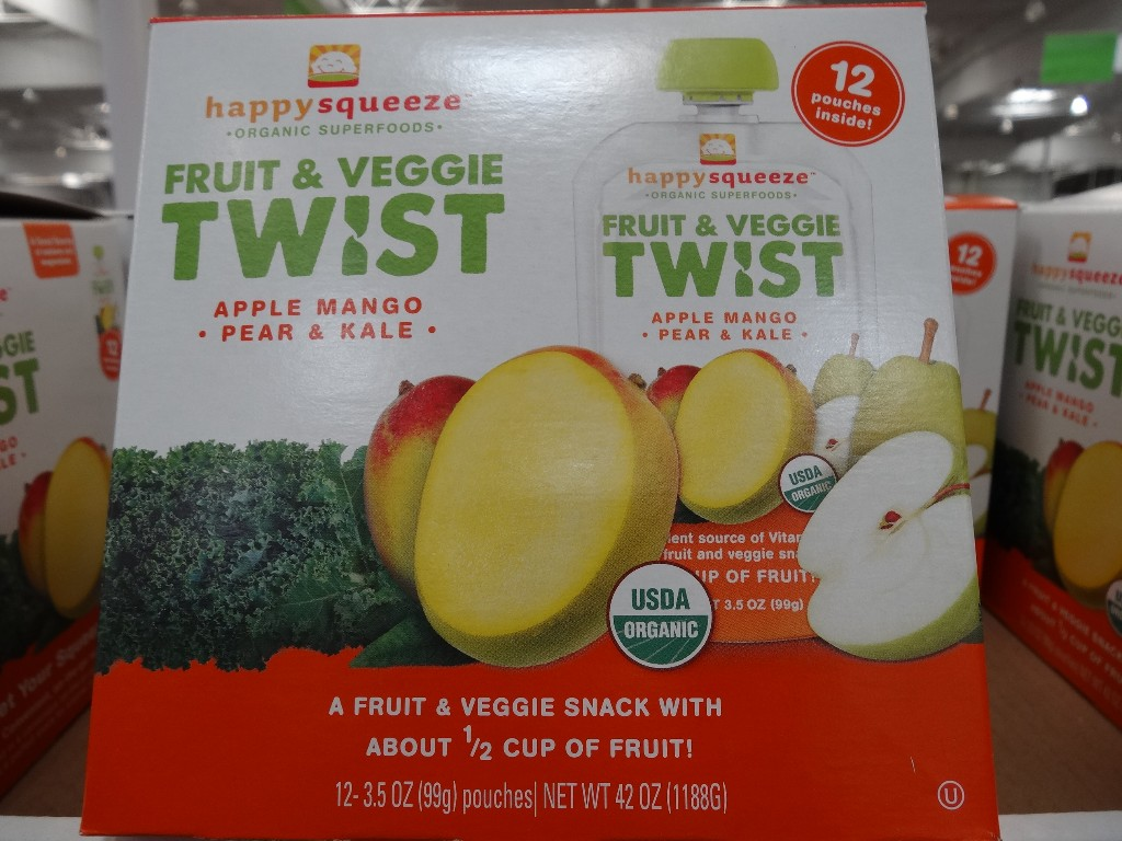 Happy Squeeze Organic Fruit and Veggie Twist Costco
