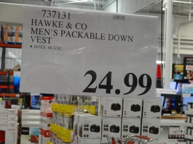 Hawke & Co Mens Packable Down Vest Costco