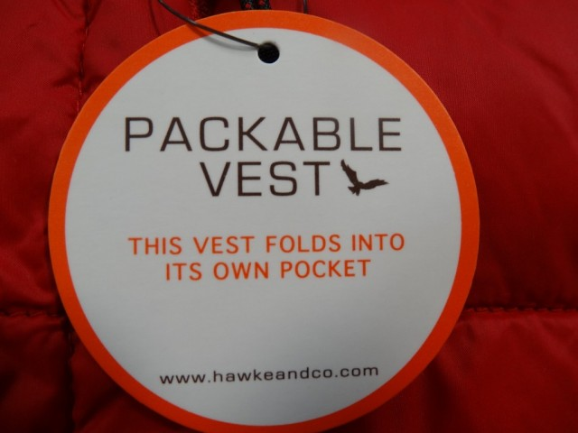 Hawke & Co Mens Packable Down Vest Costco