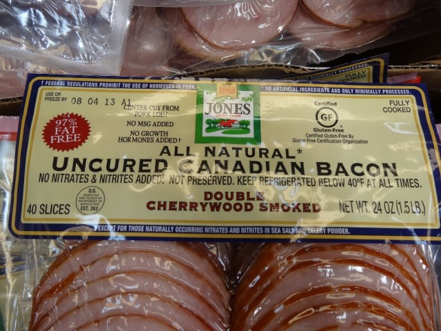 Jones All Natural Canadian Bacon Slices Costco