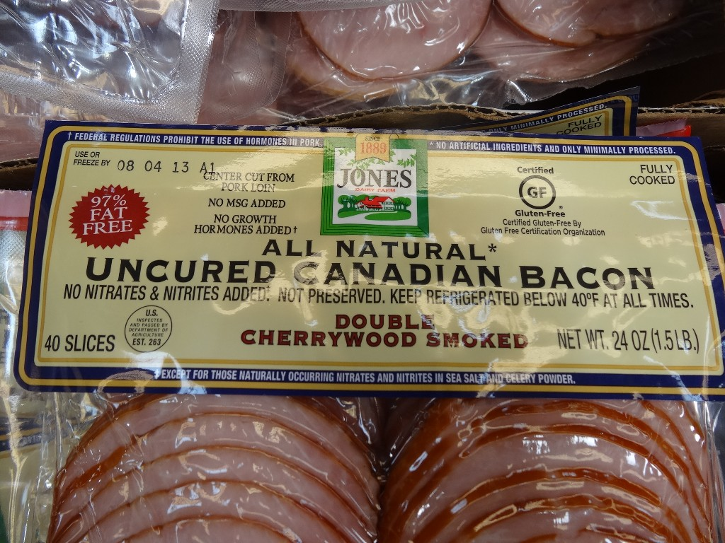 Jones All Natural Uncured Canadian Bacon Slices