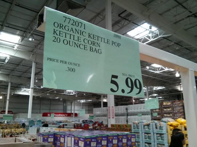 Kettlepop Organic Kettle Corn Costco