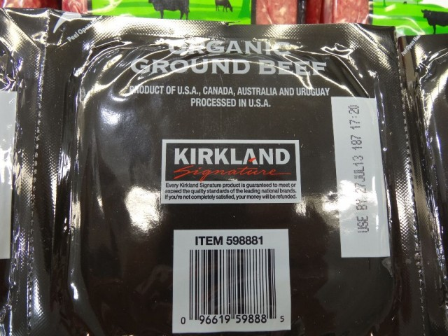 Kirkland Signature Organic Ground Beef Costco