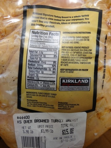 Kirkland Signature Oven Browned Turkey Costco