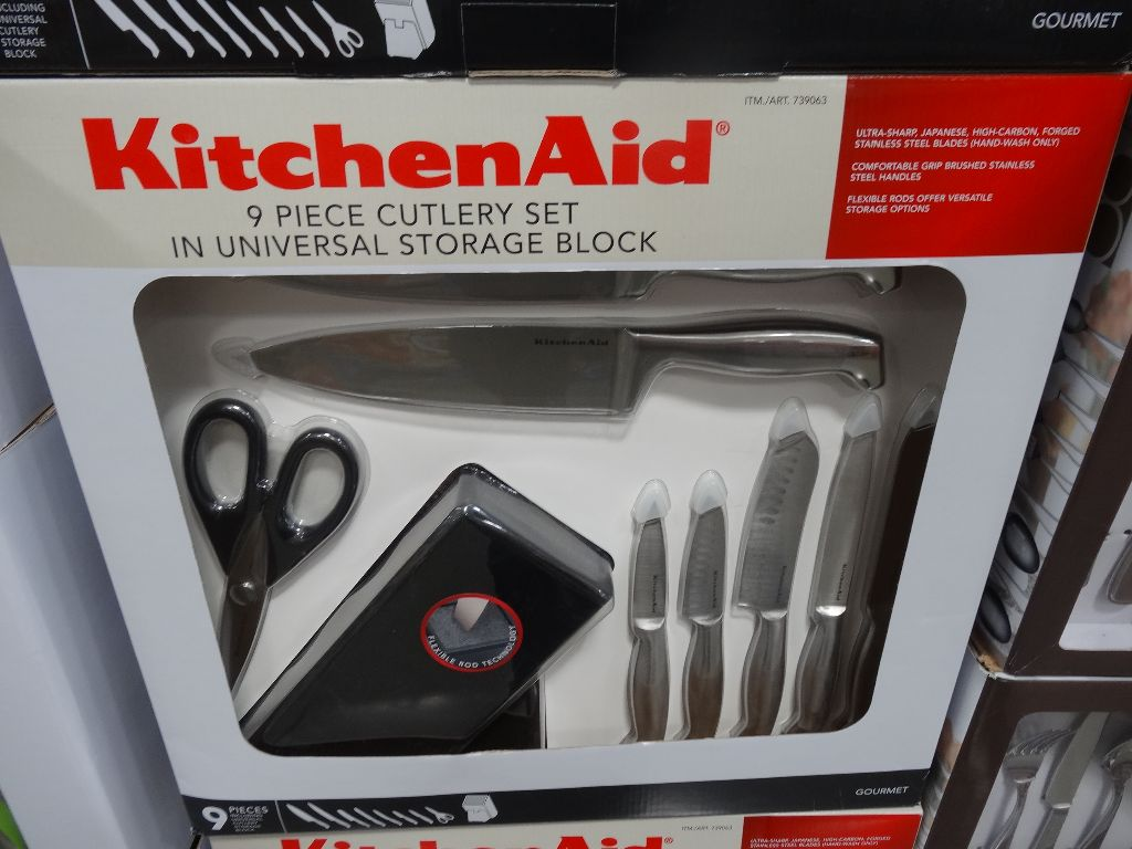 kitchenaid 9 piece cutlery set. Black Bedroom Furniture Sets. Home Design Ideas