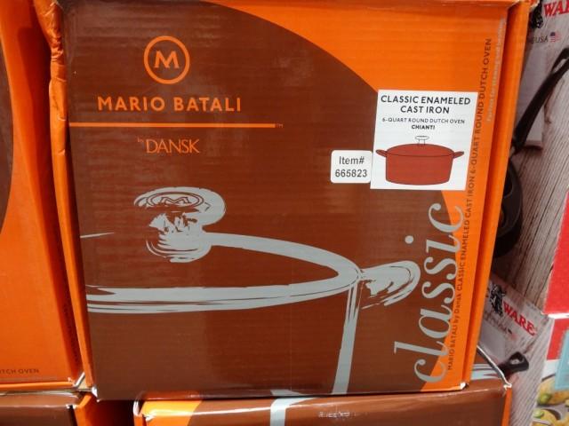 Mario Batali 6QT Cast Iron Dutch Oven Costco