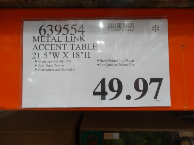 Metal Link Accent Table Costco