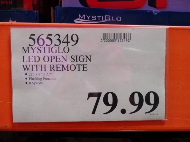 Mystiglo LED Open Sign Costco