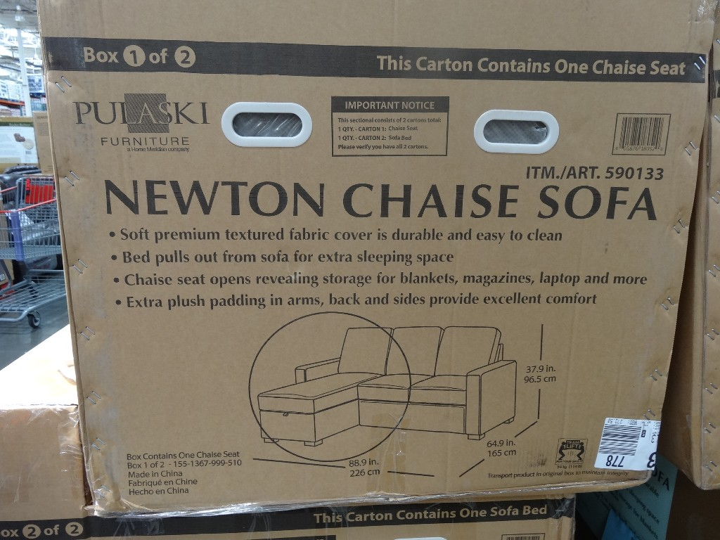 Costco Pulaski Newton Chaise Sofa