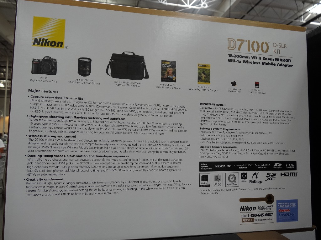 Nikon D7100 Dslr Kit 18 200mm