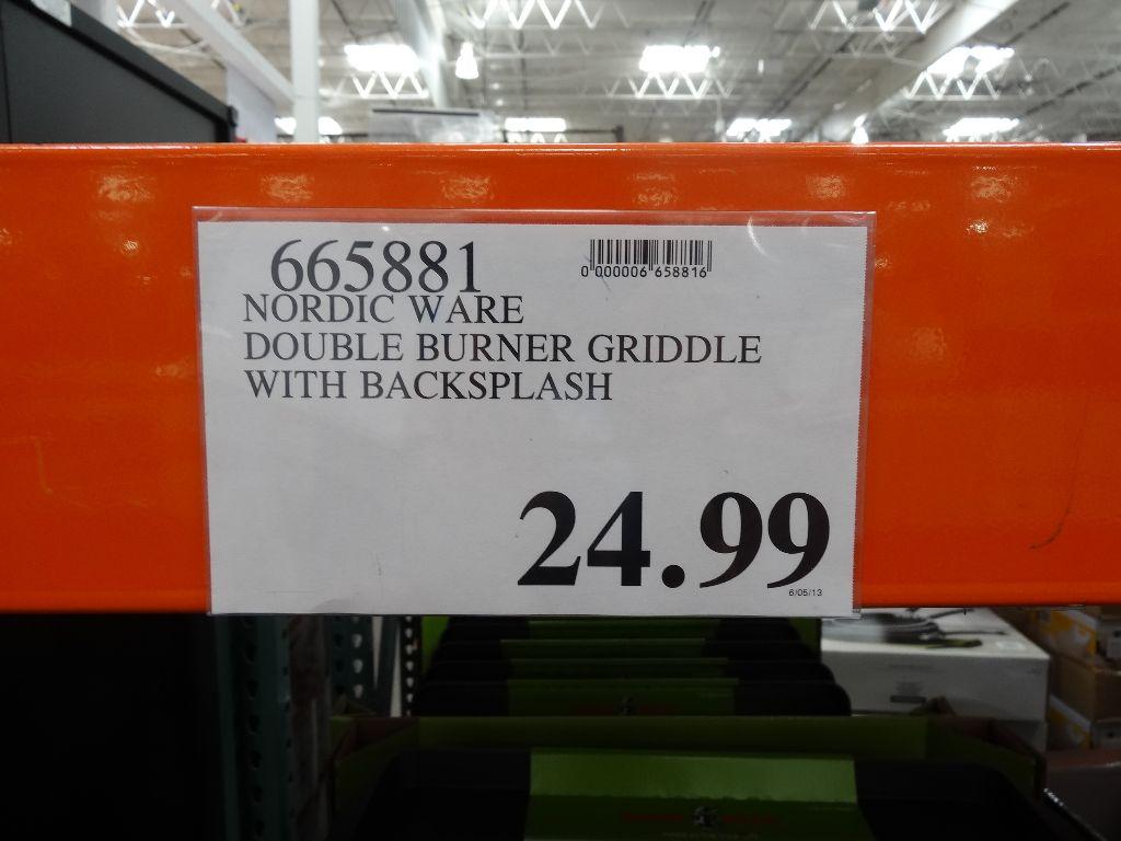 - Nordic Ware Double Backsplash Griddle
