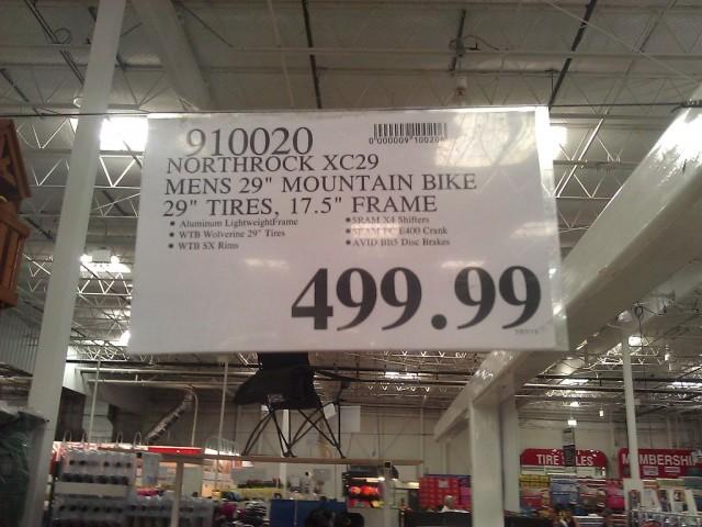 Northrock Bikes XC29 Mountain Bike Costco