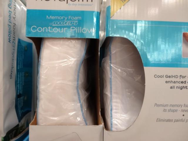 Novaform Memory Foam Cool Gel Contour Pillow Costco