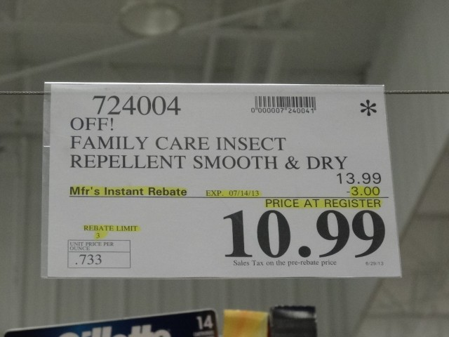 Off Family Care Insect Repellent Costco