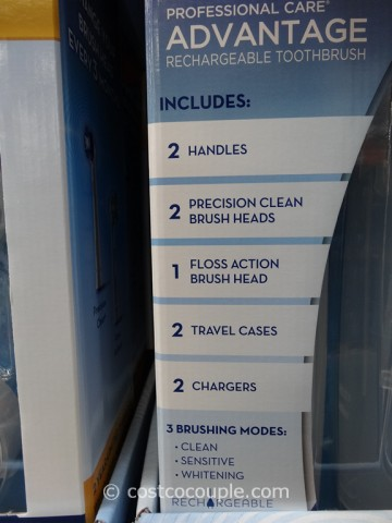 Oral-B Professional Care Advantage Rechargeable Toothbrush Costco 3