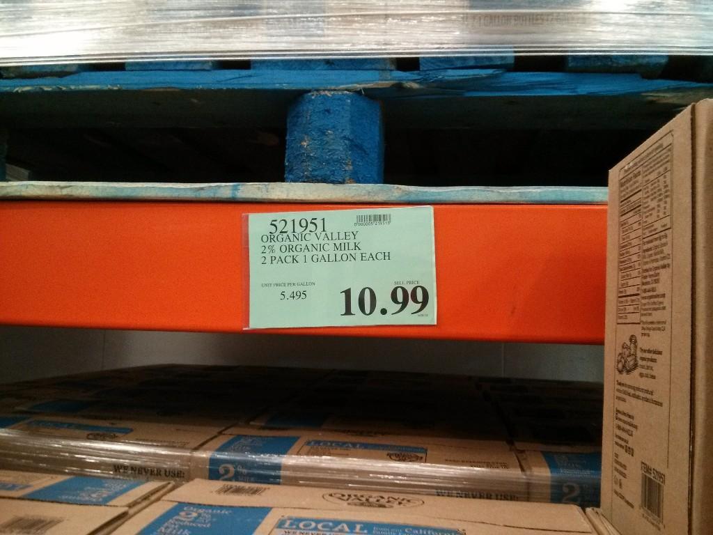 Organic Valley 2% Milk – Costco vs Safeway