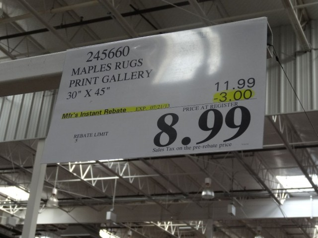 Print Gallery Accent Rug Costco