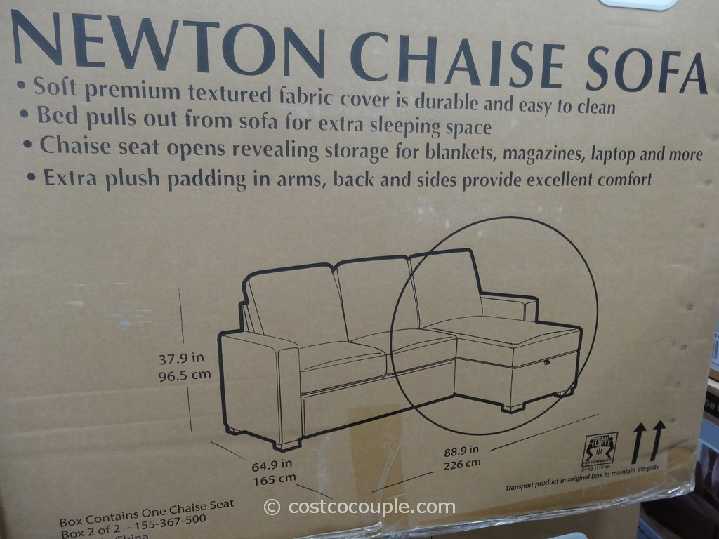 Costco Pulaski Newton Chaise Sofa Bed