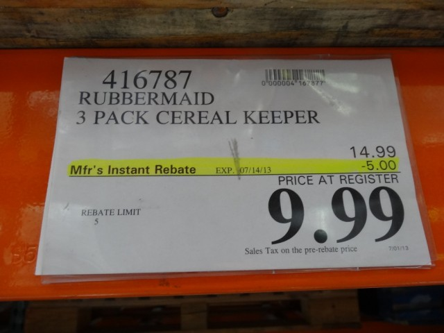 Rubbermaid Cereal Keeper Discount Costco