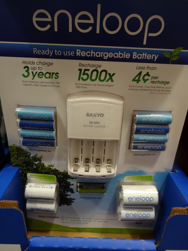 Sanyo Eneloop Rechargeable Battery Combo Pack Costco